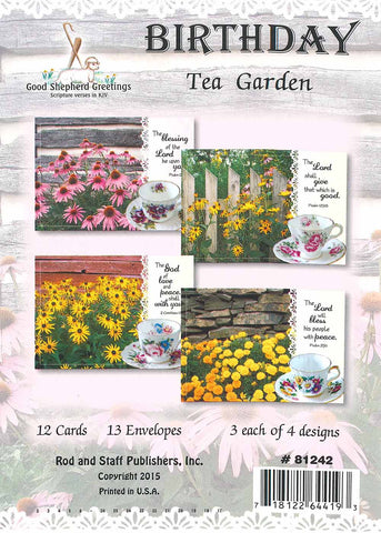 BOXED CARD - BIRTHDAY - TEA GARDEN