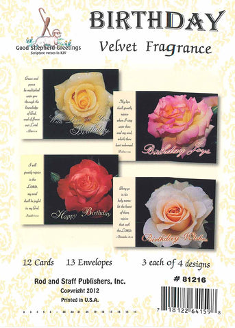 BOXED CARD - BIRTHDAY - VELVET FRAGRANCE