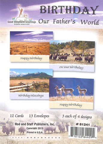 BOXED CARD - BIRTHDAY - OUR FATHER'S WORLD