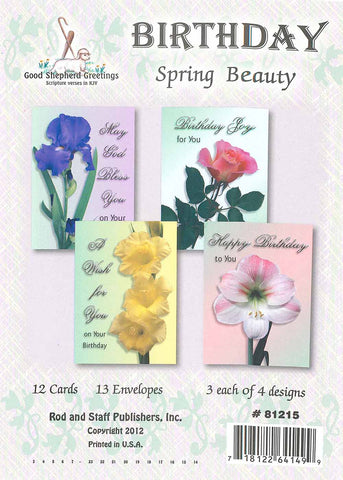 BOXED CARD - BIRTHDAY - SPRING BEAUTY