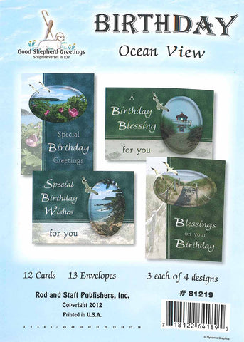 BOXED CARD - BIRTHDAY - OCEAN VIEW
