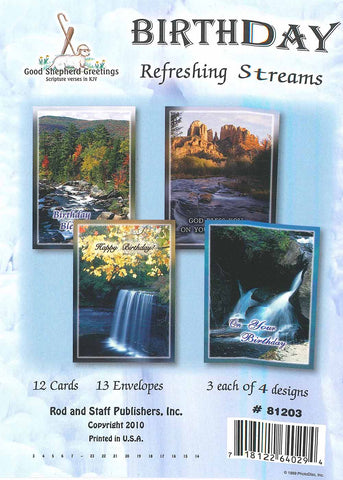 BOXED CARD - BIRTHDAY - REFRESHING STREAMS