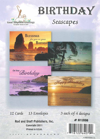 BOXED CARD - BIRTHDAY - SEASCAPES