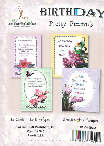 BOXED CARD - BIRTHDAY - PRETTY PETALS