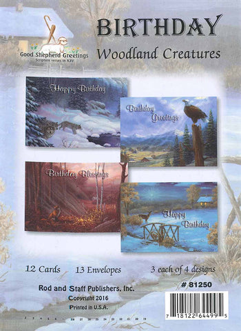 BOXED CARD - BIRTHDAY - WOODLAND CREATURES