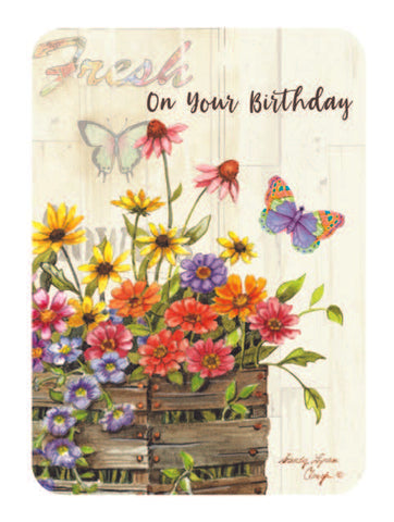 BOXED CARDS - BIRTHDAY - FRESH FLOWER WISHES