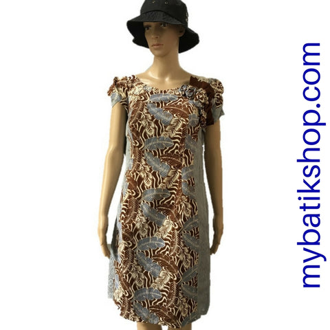 Batik Semi Tulis Short-sleeve Dress Pakualam