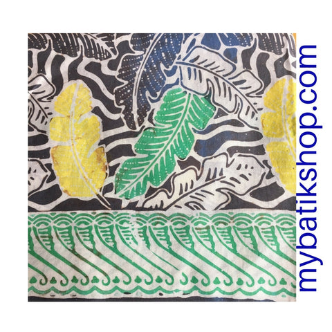 Batik Fabric Hand-stamped Hand-blotted with Highlighter Colors
