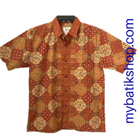 Batik Keris for Boys Pumpkin Spice Size 16