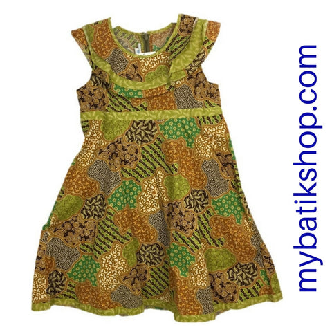 Batik Keris for Girls Sleeveless Green