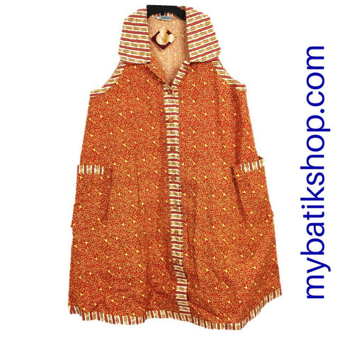 Batik Keris for Girls from Disney with Minnie Mouse Print in Orange