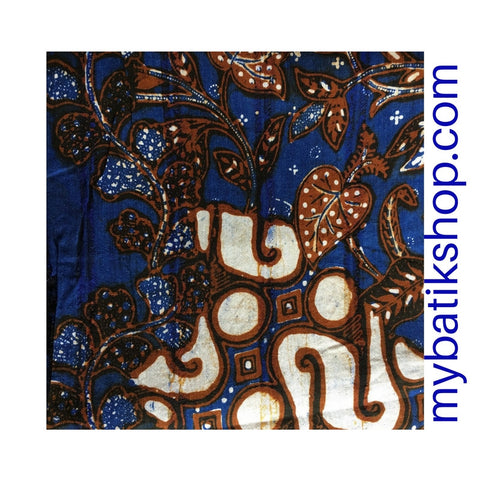 Batik Tenun from Wood Grains Dark Blue