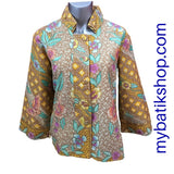 Blazer for Misses Batik Doby Embossed Yellow