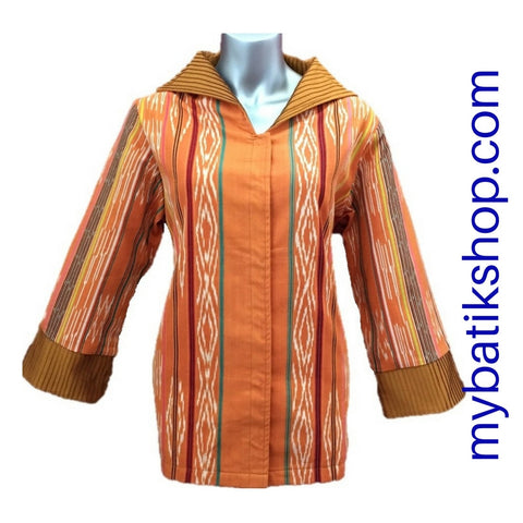 Tenun Orange Gold Long-sleeves Blazer