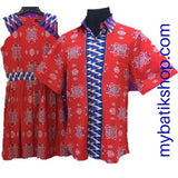 Couple Batik Modern Prints Red