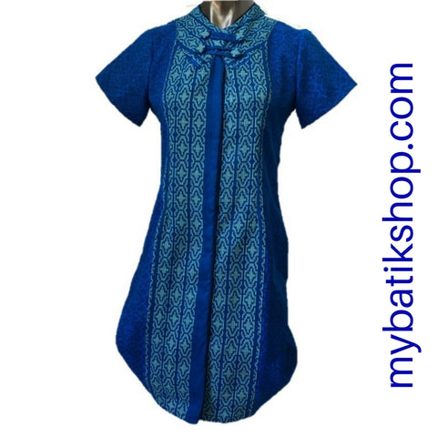 Couple Batik Tenun Bold Blue
