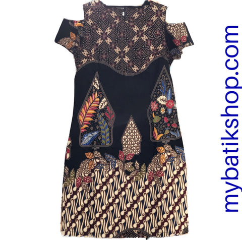 Stretched Batik Modern Off-shoulder Dress
