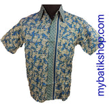 Family Batik - Boy Blue Cotton Print