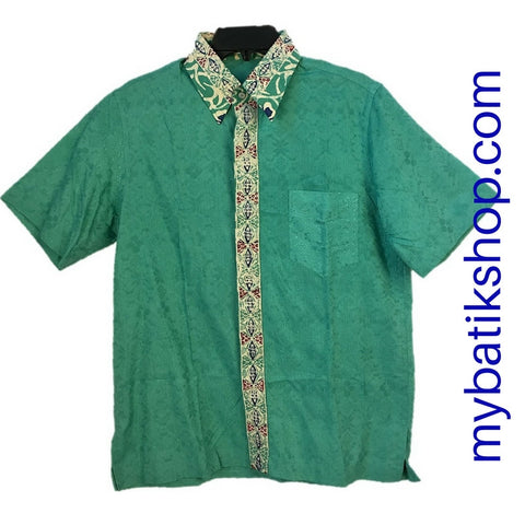Batik for Men Cotton Modern Print Green