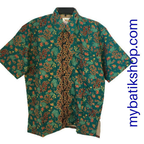 Batik for Men Green Multi Short-sleeves