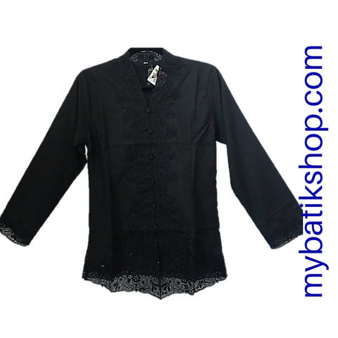 Kebaya Patched Lace Black