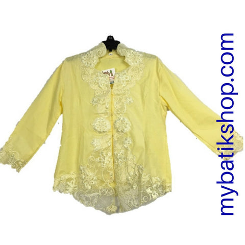Kebaya for Girls Yellow