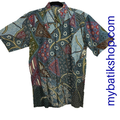 Batik for Men Blue Gray Multi
