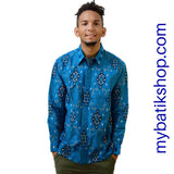 Tenun for Men Blue Long Sleeves