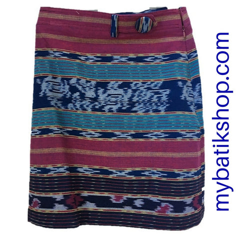 Mini Skirt Tenun Horizontal Motif