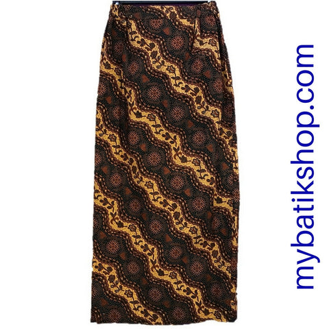Batik for Ladies - Classic Brown Long Skirt