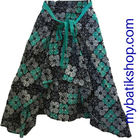 Batik Skirt with Wrap Style Front