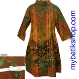 Batik Plus Tenun Orange Brick Turtleneck Dress