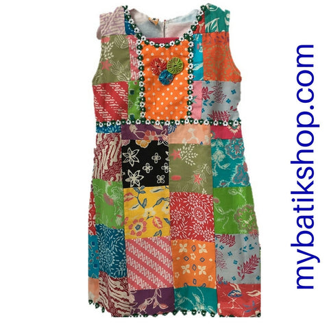 Batik for Girls Quilt Dress Size Medium