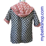 Hooded Reversible Stamped Batik Jacket