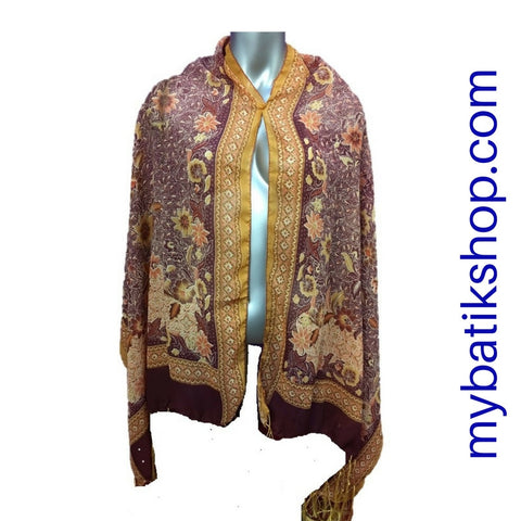 Batik Soft Scarf - Gorgeous Grape