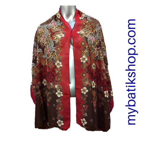 Batik Soft Scarf - Ravishing Red