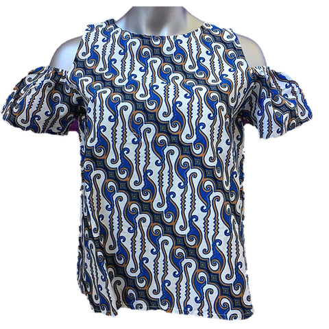 Misses MJ Batik Top Blue Parang