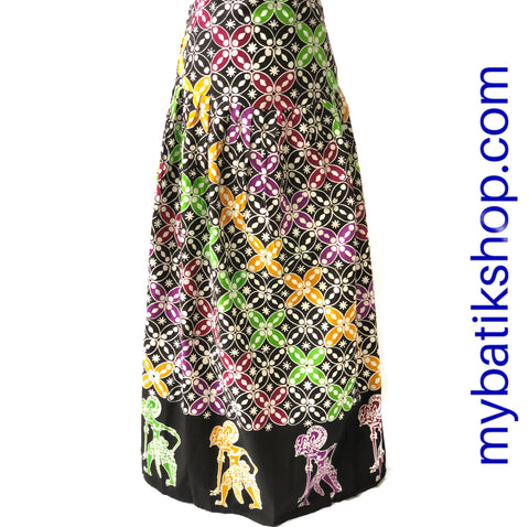 Batik Wayang Full Long Skirt Cap Tulis