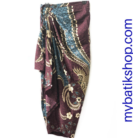 Wrap-around Sarong Skirt with Drape