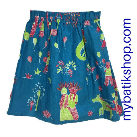 Batik for Girls - Voila Blue Betawi Skirt