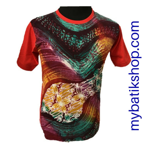 T-Shirt Abstract Full Batik Tulis Yogya