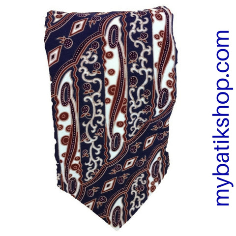Men's Batik Tie Silky Blue Multi