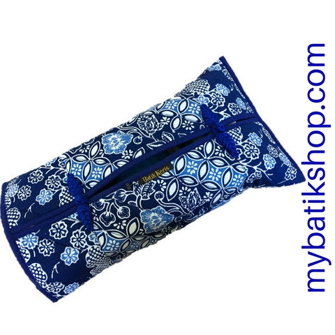 Batik Tissue Box Sleeve Blue