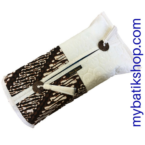 Batik Tissue Box Sleeve Off-white Classic