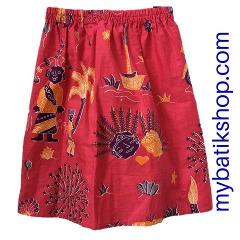 Batik for Girls - Voila Long Deep Pink Betawi Skirt