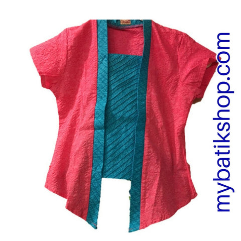 Kebaya for Girls - Voila Pink Blue Kutubaru