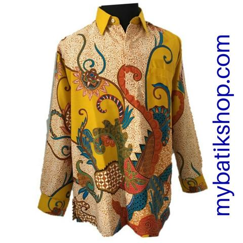 Batik for Men Cotton Doby Bright Yellow