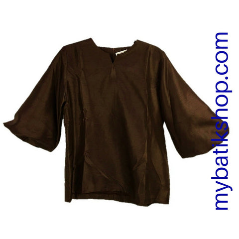 Ethnic Taffeta Yeti Dark Brown