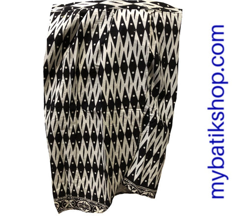 Batik Mini Skirt Black and White