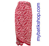 Wrap-around Paris Modern Sarong Dress Red